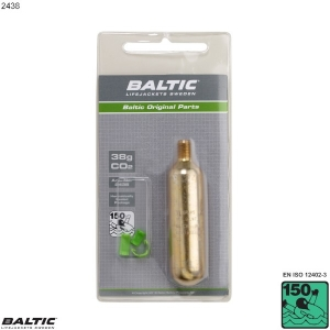 38g CO2 Cylinder m. clips - BALTIC 2438